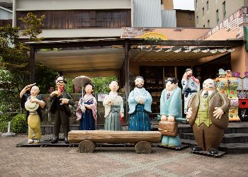 Statues outside dogo onsen
