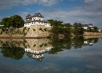 reflective view of the castle